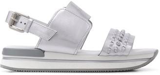 Hogan Woven-Strap Plafform Sandals