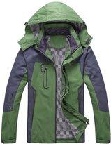 Diamond Candy men Sportswear Hooded Softshell Outdoor Raincoat Waterproof Jacket 02GXL