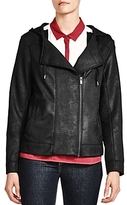 The Kooples Faux-Leather Hooded Jacket