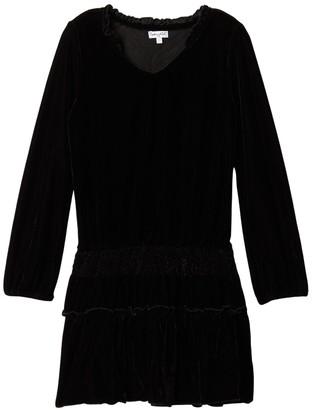 Ella Moss Long Sleeve Velvet Dress (Big Girls)