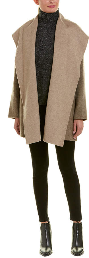 Vince Hooded Wool-Blend Coat