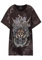 Balmain Tiger-print Oversized Cotton T-shirt