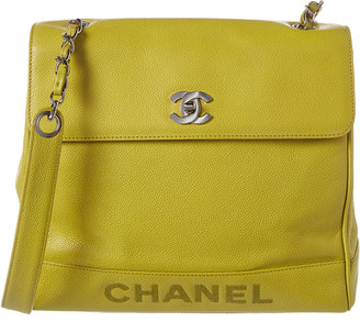 Chanel Yellow Caviar Leather Shoulder Bag