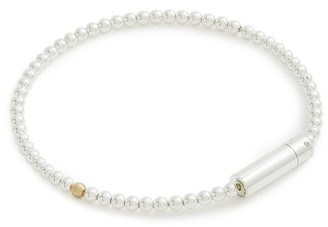 Le Gramme 11g Polished Silver Bracelet With One Brushed Yellow Gold Bead
