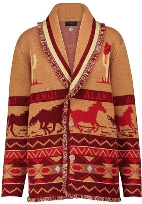 Alanui Wild Roads cashmere-blend cardigan