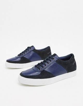 Rule London leather/suede sneaker in navy