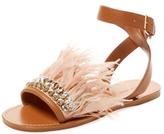 Miu Miu Embellished Feather Sandal