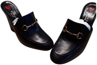 Gucci Black Leather Mules & Clogs