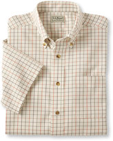 L.L. Bean Wrinkle-Free Twill Sport Shirt, Traditional Fit Short-Sleeve Windowpane