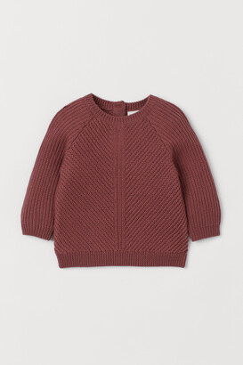 H&M Textured-knit Wool Sweater