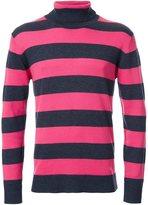 GUILD PRIME striped high neck jumper