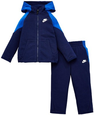 Nike Infant Boys Nsw Mixed Material Full Zip Set - Blue