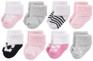 Luvable Friends Baby Socks, 8-Pack, Ballet, 0-12 Months
