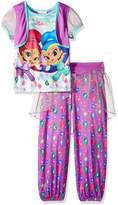 Nickelodeon Little Girls' Shimmer and Shine 2-Piece Fantasy Pajama Set