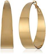 Vince Camuto Gold Tapered Hoop Earrings