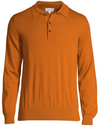 Brioni Cashmere Long-Sleeve Polo