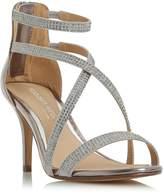 Head Over Heels Miley Cross Strap Diamante Sandals