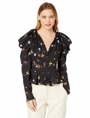 C/Meo Women's Vices Long Puff Sleeve Blouse Top