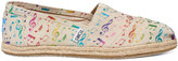 Toms Rainbow Music Notes Women's Classics