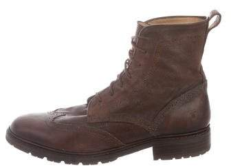 Frye James Lug Wingtip Boots