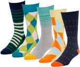 Status Blue 5 Pairs Men's Crew Socks