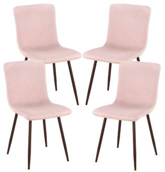 Mid-Century MODERN Poly & Bark Set of 4 Pierre Mid Century Dining Chair