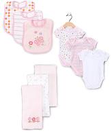 SpaSilk Pink Stripe Bodysuit Set - Infant