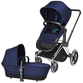 CYBEX Priam Pram Plus 2in1 Seat 2017 - Chrome with Royal Blue
