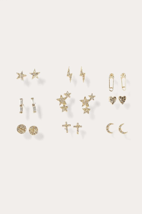 9-Pack Sparkling Mixed Earrings