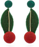 REBECCA DE RAVENEL Cherry Oh Baby drop earrings