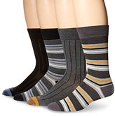 Rockport Men's Ribbed Striped Crew Sock