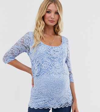 Mama Licious Mamalicious nursing lace blouse
