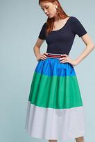 Maeve Colorblocked Poplin Skirt