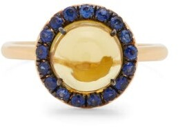 Rosa De La Cruz - Sapphire, Lemon-quartz, And 18kt Gold Ring - Yellow Multi
