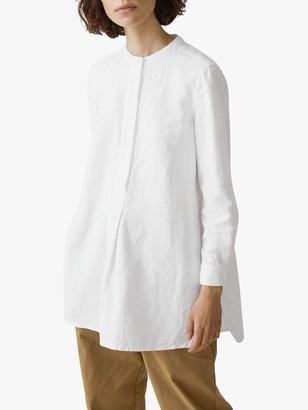 Toast Cotton-Linen Shirt, Paper White