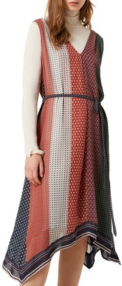 French Connection Caprice Handkerchief Hem Midi Dress