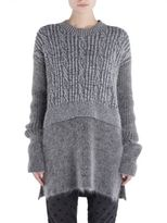 Stella McCartney Stitched Jumper with Woolen Arms