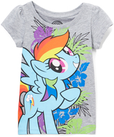 Freeze My Little Pony Heather Gray Puff-Sleeve Tee - Toddler