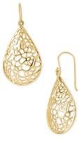 Argentovivo Teardrop Dome Lace Earrings
