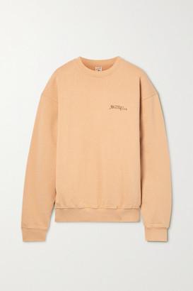 Sporty & Rich Rizzoli Printed Cotton-jersey Sweatshirt - Camel