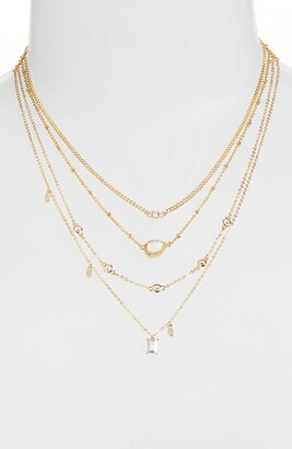 Nordstrom Pave Four Strand Necklace