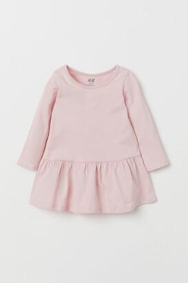 H&M Flounced Jersey Dress