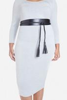 Fashion to Figure Braided Tassel Wrap Belt
