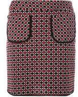 Dorothy Perkins Womens Red Geometric Print Pocket Mini Skirt- Red