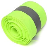 GBz-16 5X1.5cm Lime Green Reflective Safety Fabric Tape Vest Trim Strip Sew On