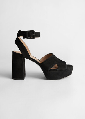 And other stories Suede Heeled Platform Sandals