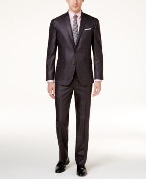 Kenneth Cole Reaction Men's Ready Flex Basketweave Slim-Fit Big and Tall Suit