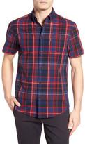 Ben Sherman Madras Plaid Short Sleeve Regular Fit Shirt