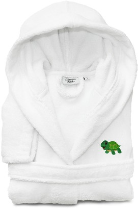 Linum Kids Home Textiles Turtle Embroidered Terry Hooded Bathrobe