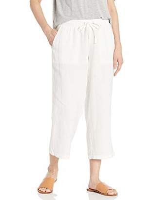 Amazon Essentials Patterned Drawstring Linen Crop Pant Casual,XXL